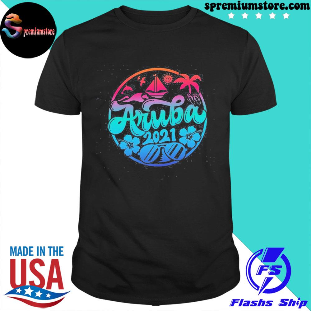 Official aruba vacation outfit caribbean apparel shirt