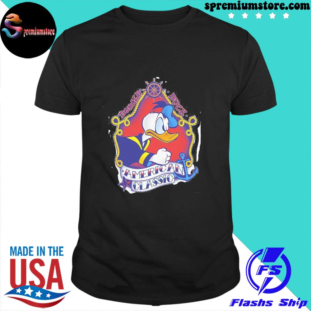 Official disney mickey and friends donald duck american shirt