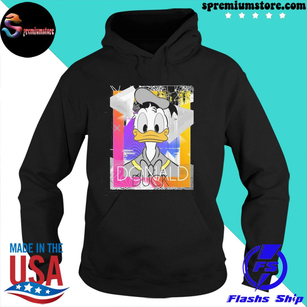 Official disney mickey and friends donald duck s hoodie-black