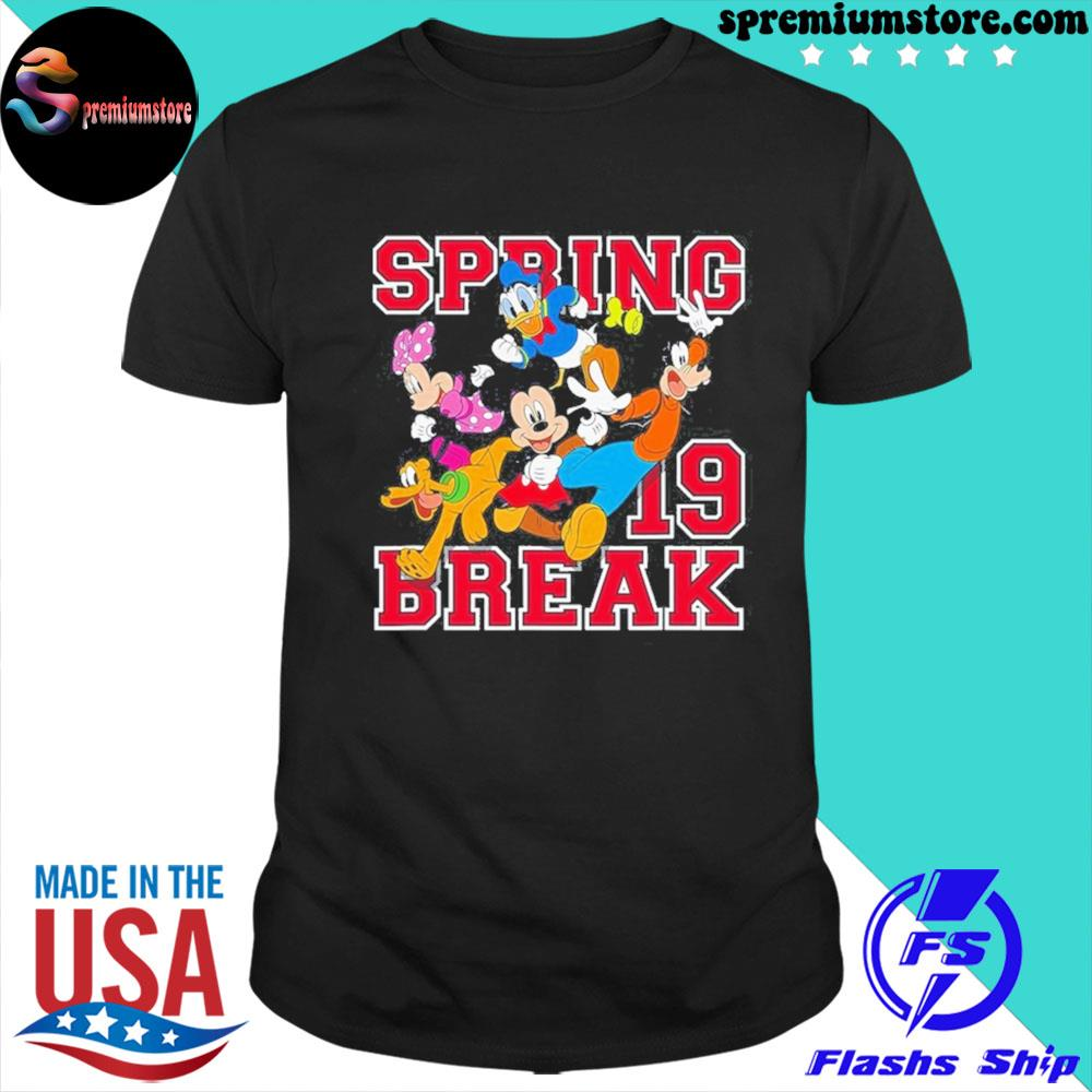 Official disney mickey mouse and friends spring break shirt