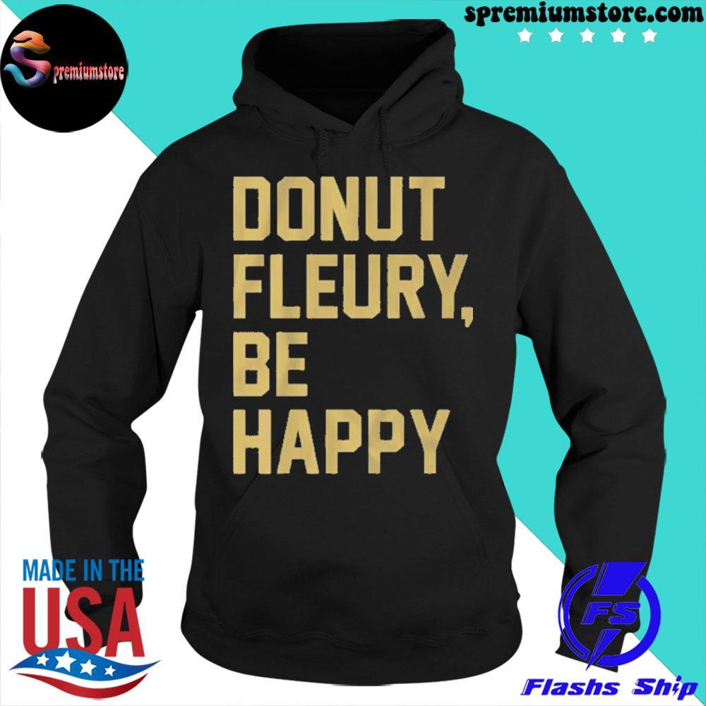 Official donut fleury be happy vegas 2021 s hoodie-black