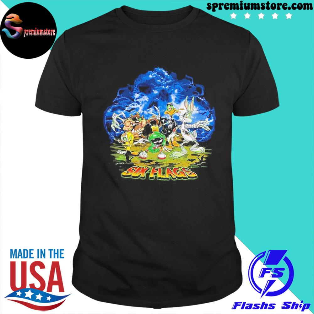 Official looney tunes six flags shirt