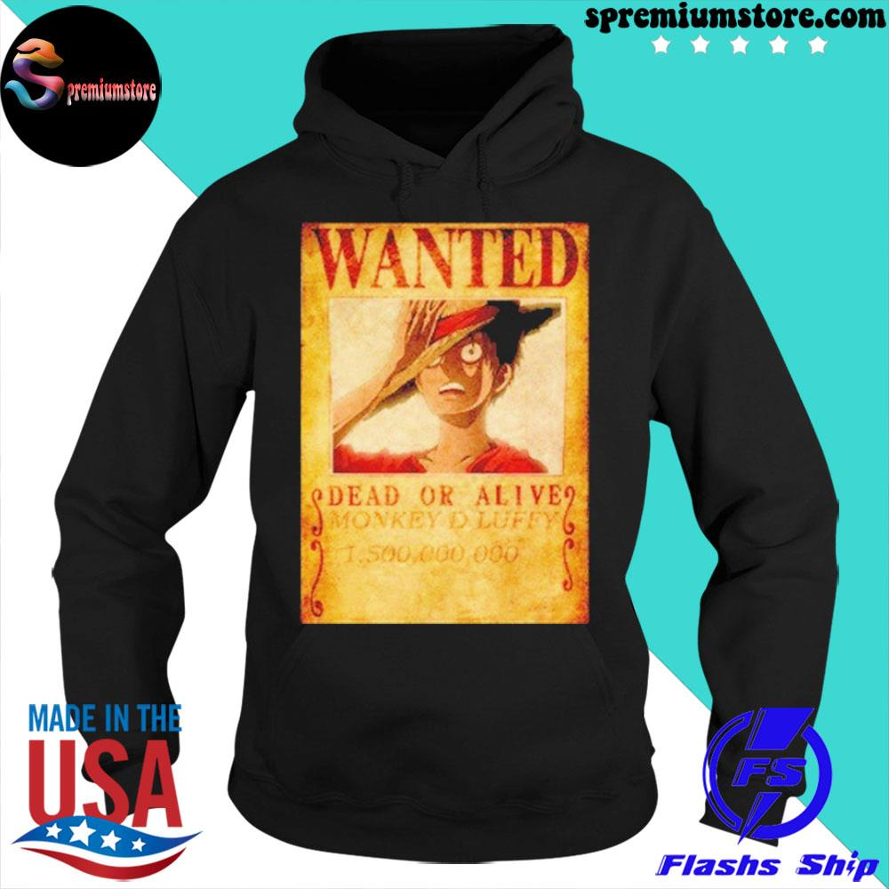 Official luffy wanted s hoodie-black