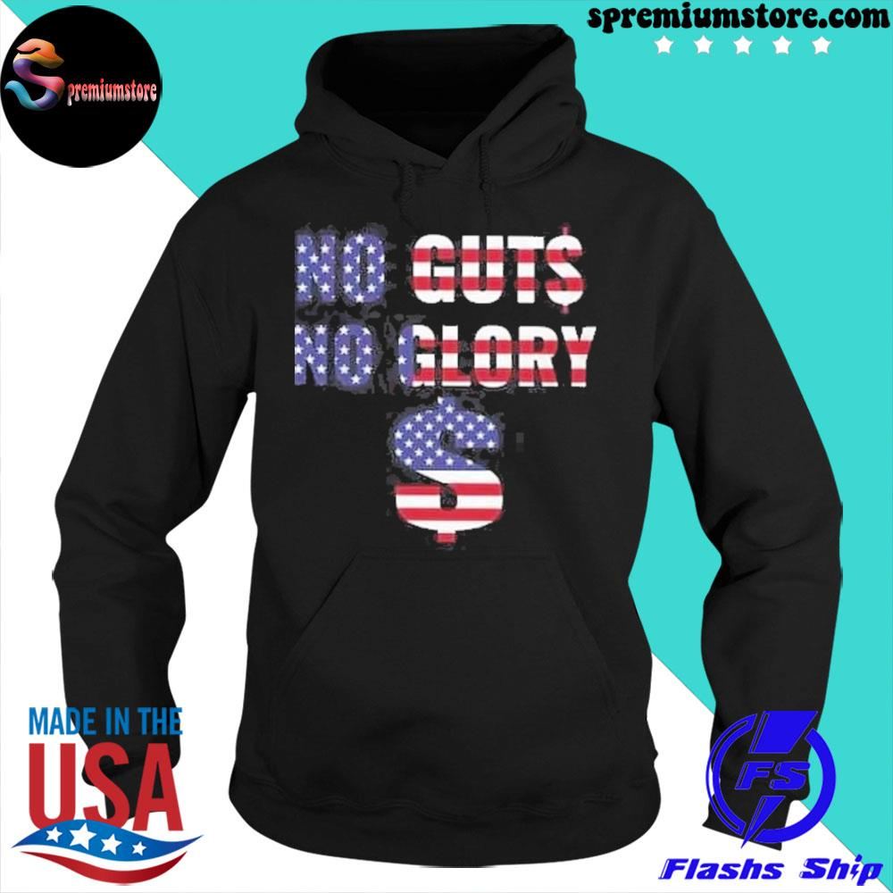 Official no guts no glory american flag s hoodie-black