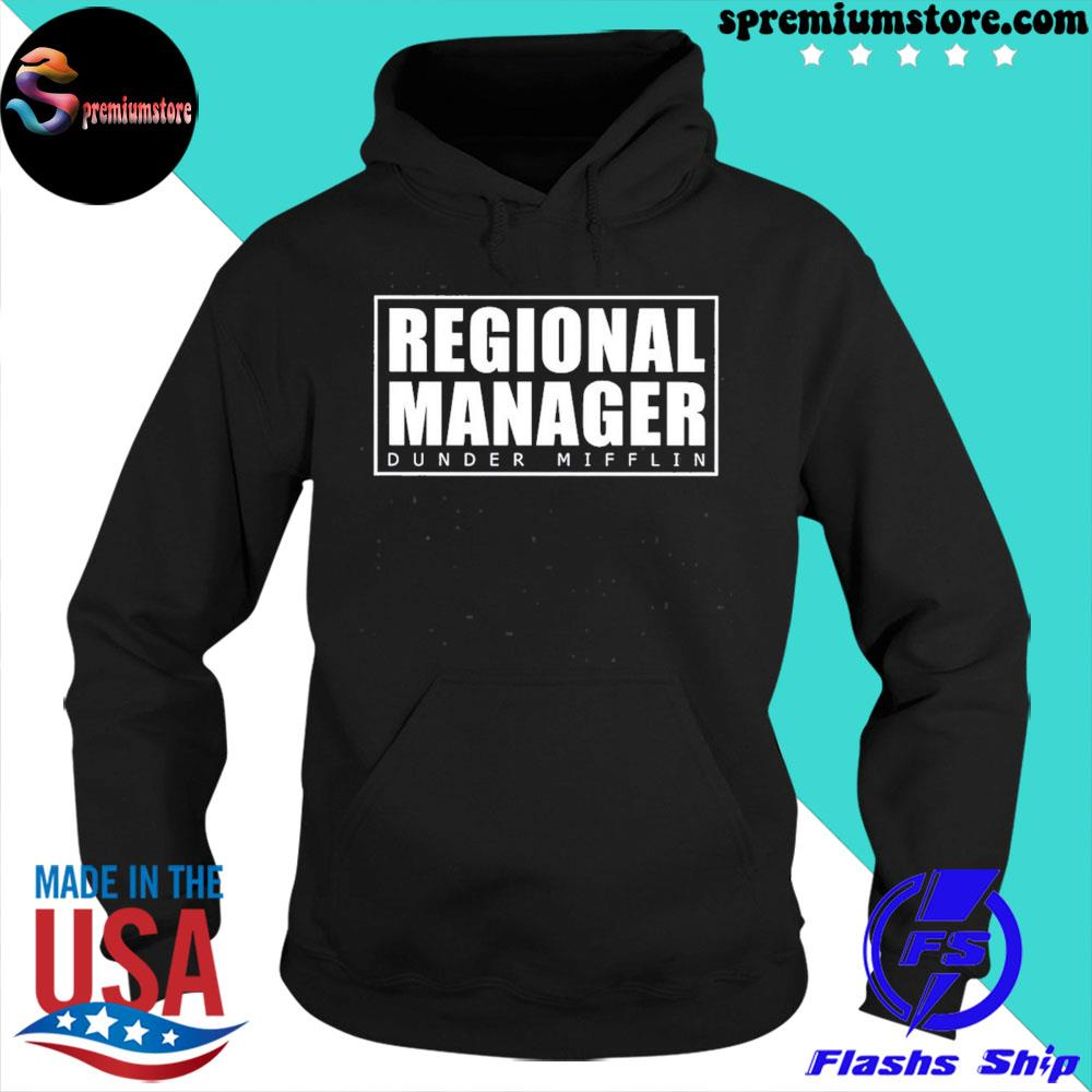 Official regional manager dunder mifflin gift s hoodie-black