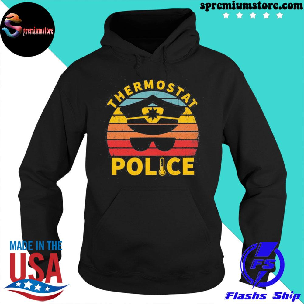 Official vintage thermostat police us 2021 s hoodie-black