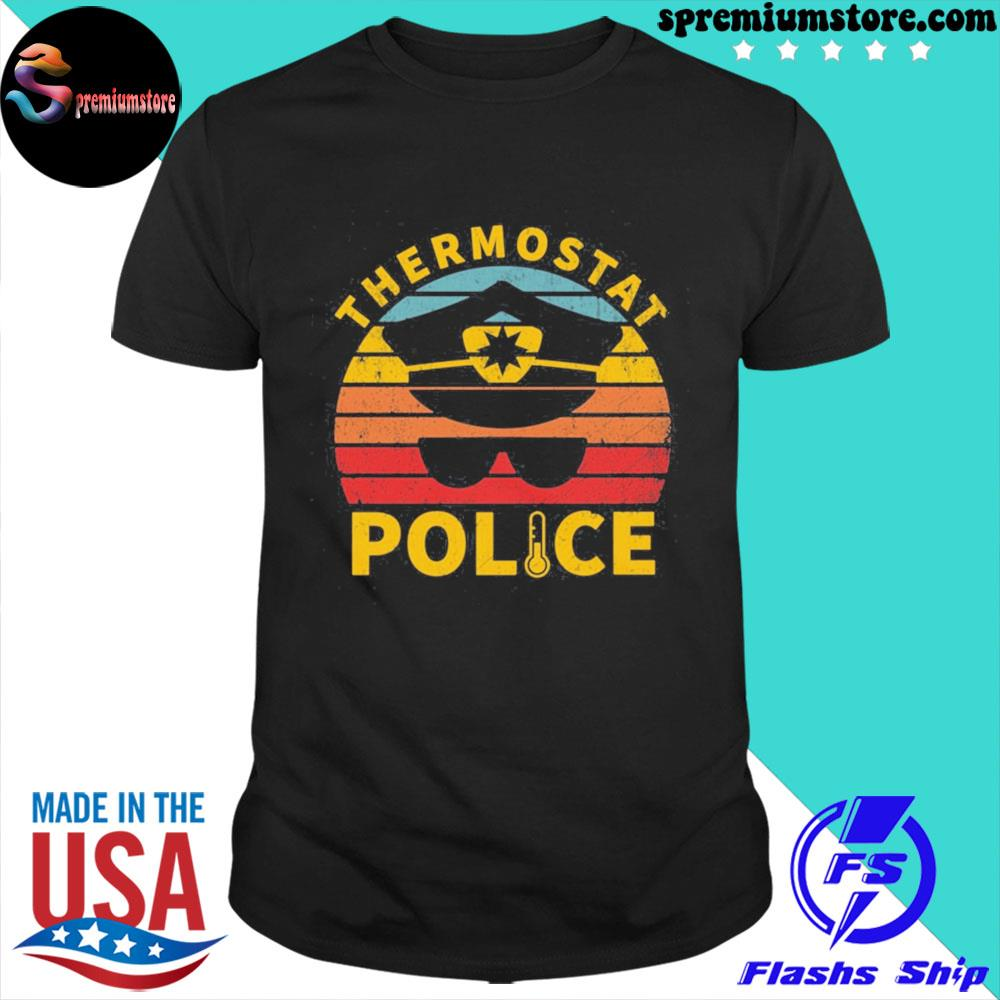 Official vintage thermostat police us 2021 shirt