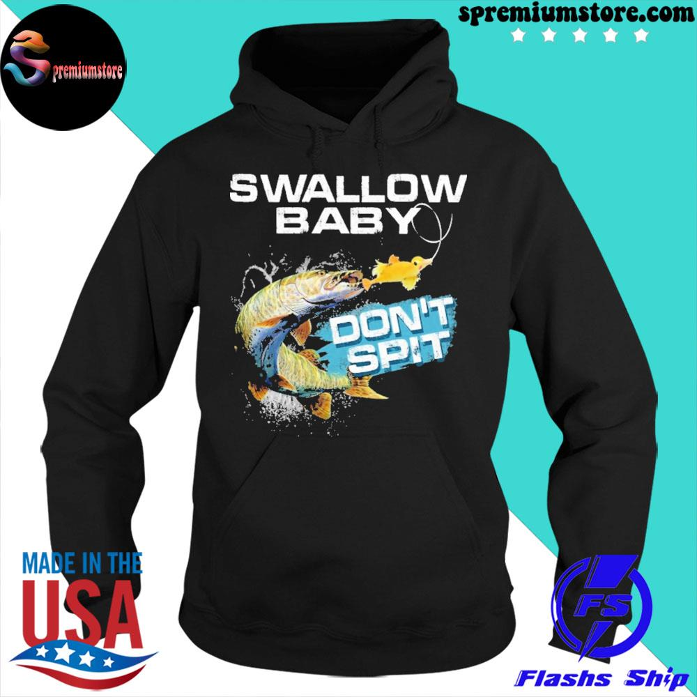 Pike swallow swallow baby don't spit ugly Christmas sweater hoodie-black