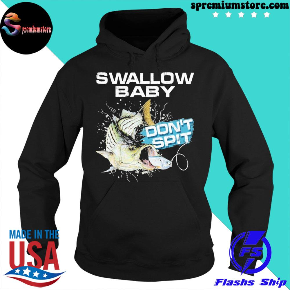 Striper bass swallow baby don't spit ugly Christmas sweater hoodie-black